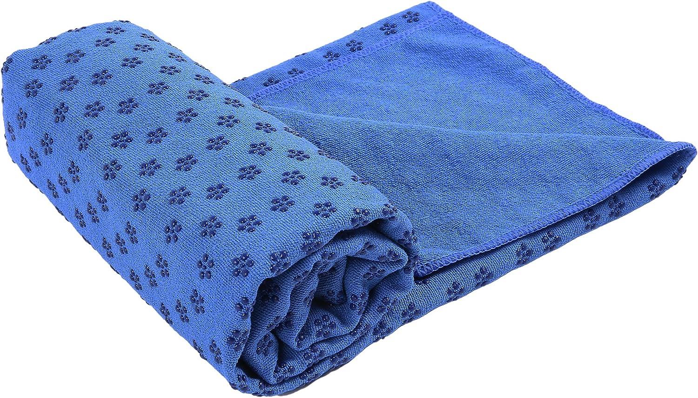 VIVOTE Juego de Toallas de Yoga de Microfibra Bolsillos de Esquina Antideslizantes Toalla de Esterilla de Yoga de 183x66 CM Peso Ligero Toalla de Sudor Toalla de Mano de 91x30 CM