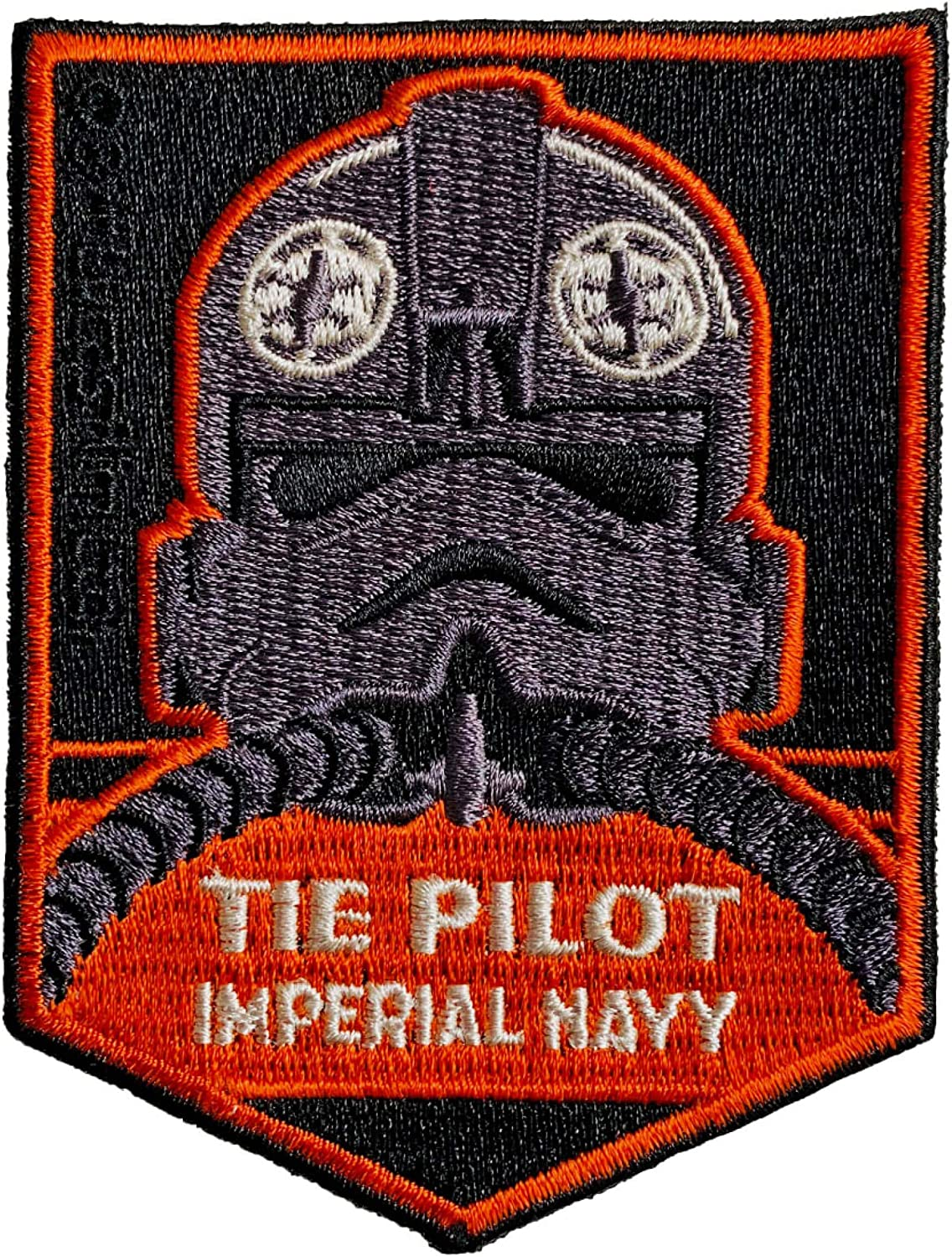 Star wars Logo Patch Embroidered Iron on Imperial Storm Trooper Emblem Badge
