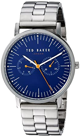 2c754a04f Amazon.com  Ted Baker Male    Brit  Quartz Watch with Silver Strap ...
