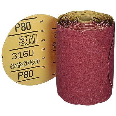 "3M 01116 Stikit Red 6"" P80D Grit Abrasive Disc: Garden & Outdoor"