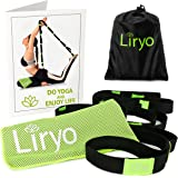 Liryo Stretch Strap for Stretching with Loops + Bamboo Cooling Towel + Exercise Poster + eBook + Carry bag