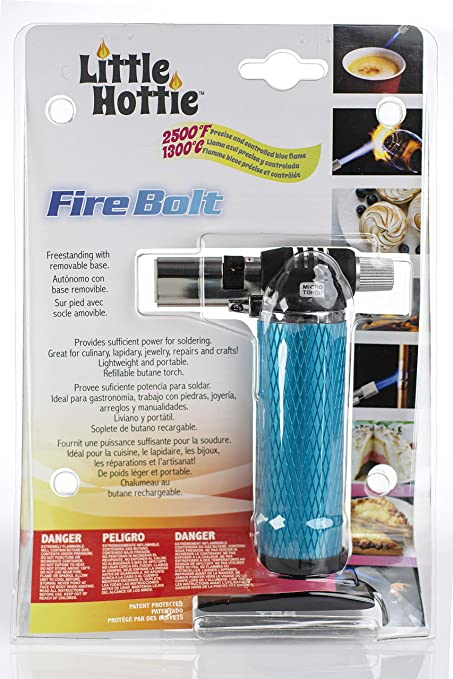 Amazon.com: Little Hottie Fire Bolt Butane Torch - Blue - Freestanding Removable Base - Soldering, Culinary, Lapidary, Jewelry, Repairs, ...