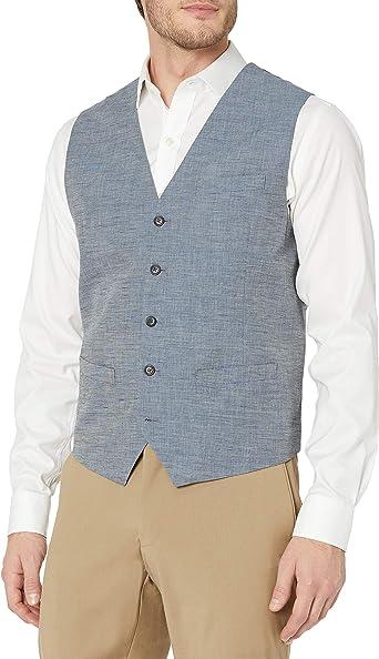 Perry Ellis traje de lino y algodón final para hombre chaleco ...