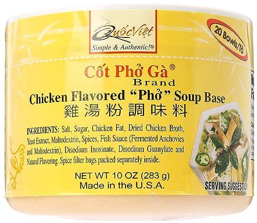 Base de sopa Pho Soup Base sabor pollo (Cot Pho Ga), un bote ...