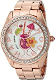 Betsey Johnson Women's Quartz Metal and Alloy Automatic Watch, Color:Rose Gold-Toned (Model: BJ00249-30)