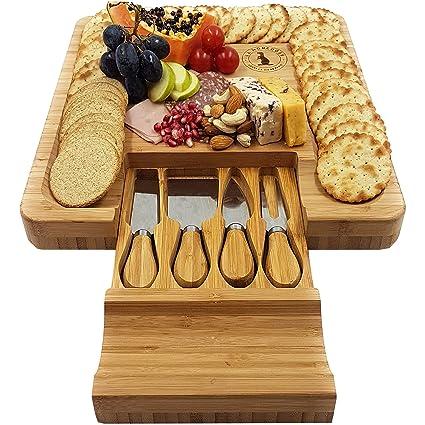 Tabla para quesos Premium XL y juego de cuchillos - cajones ...