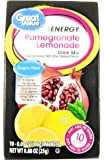 Great Value Sugar Free, Low Calorie ENERGY Pomegranate Lemonade Drink Mix (Pack of 6)