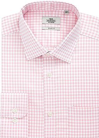 next Hombre Camisa De Cuadros Gingham - Puño Sencillo Y Corte ...