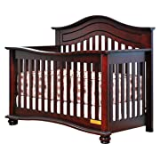 Athena Lia 4-in-1 Convertible Crib with Free Guardrail, Cherry