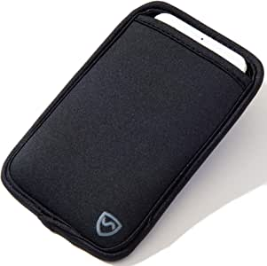 "SYB Phone Pouch, Neoprene EMF Protection Sleeve for Cell Phones up to 8.3cm (3.25"") Wide, Black"