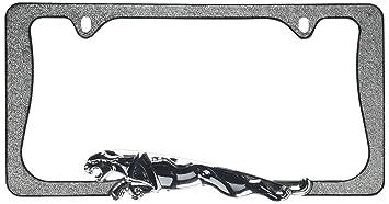 jaguar chrome license plate frame