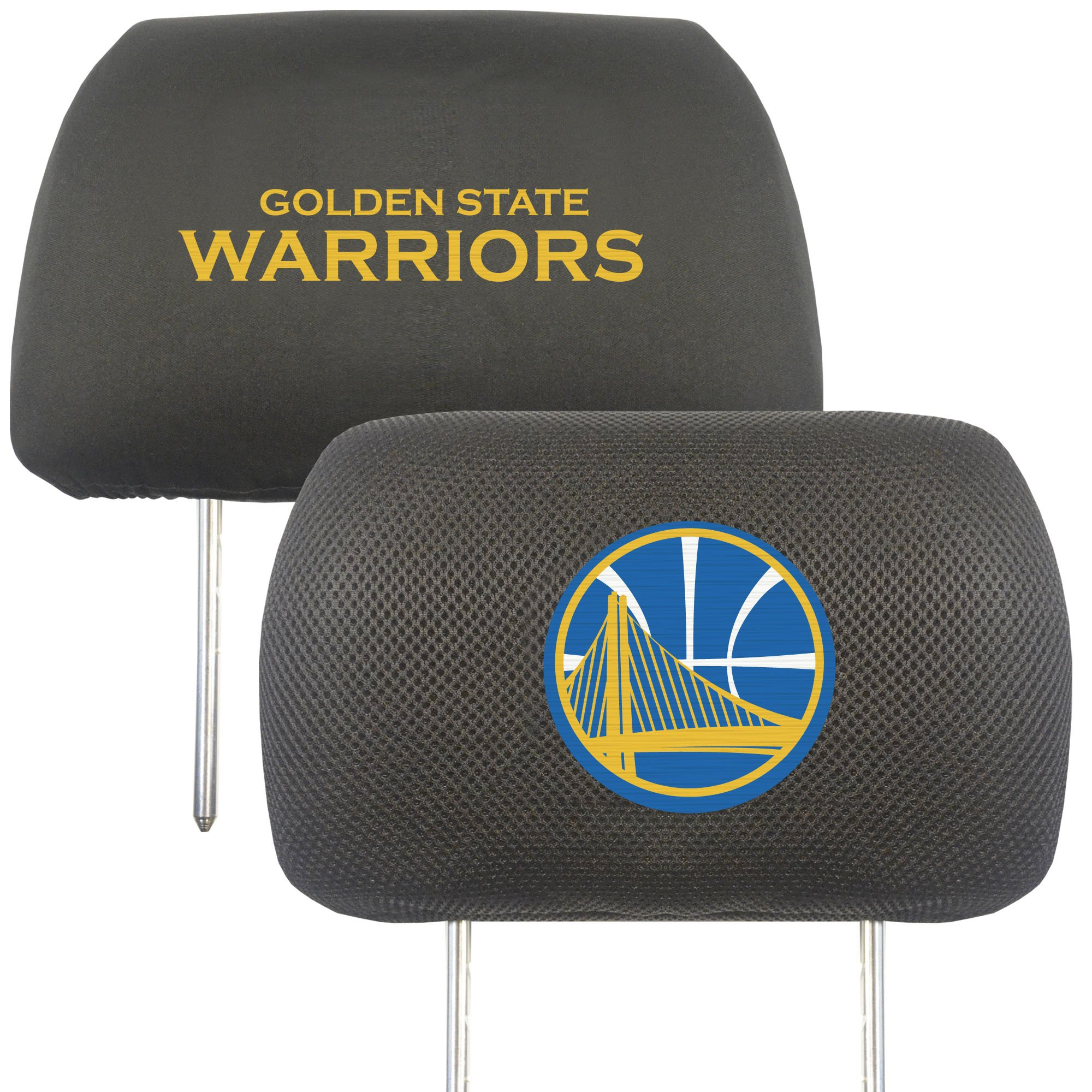 Fanmats 20323 NBA - Golden State Warriors Head Rest Cover, Team Color, 10''x13'' by Fanmats