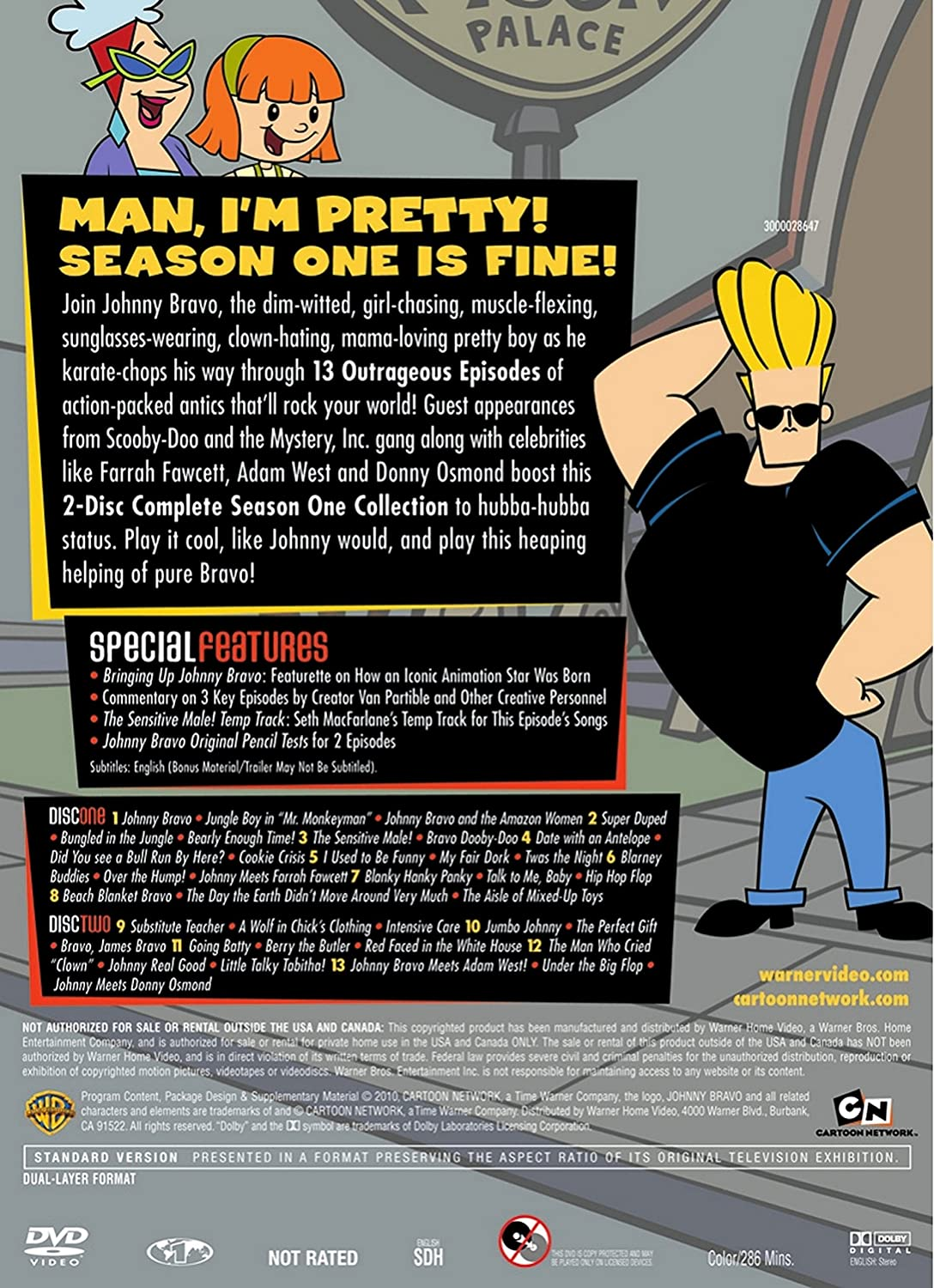 Amazon.com: Johnny Bravo: Season 1 (Cartoon Network Hall of Fame ...