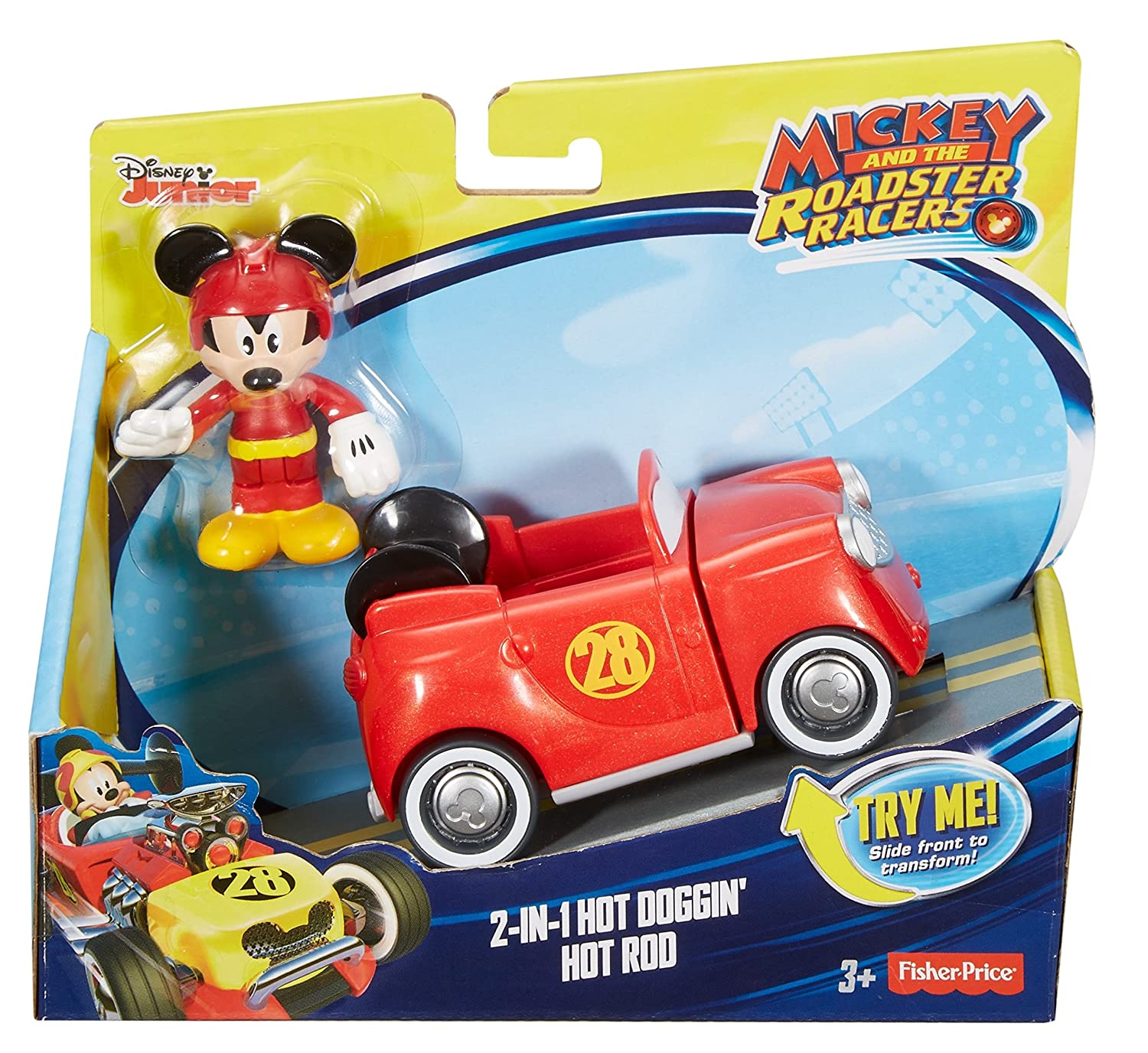 Amazon.com: Fisher-Price Disney Mickey & the Roadster Racers, 2-in-1 ...