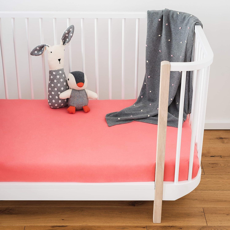 60x120 bis 70x140 cm atmungsaktiv Laleni 2er Set Spannbettlaken f/ür Babybett Kinderbett 100/% Baumwolle