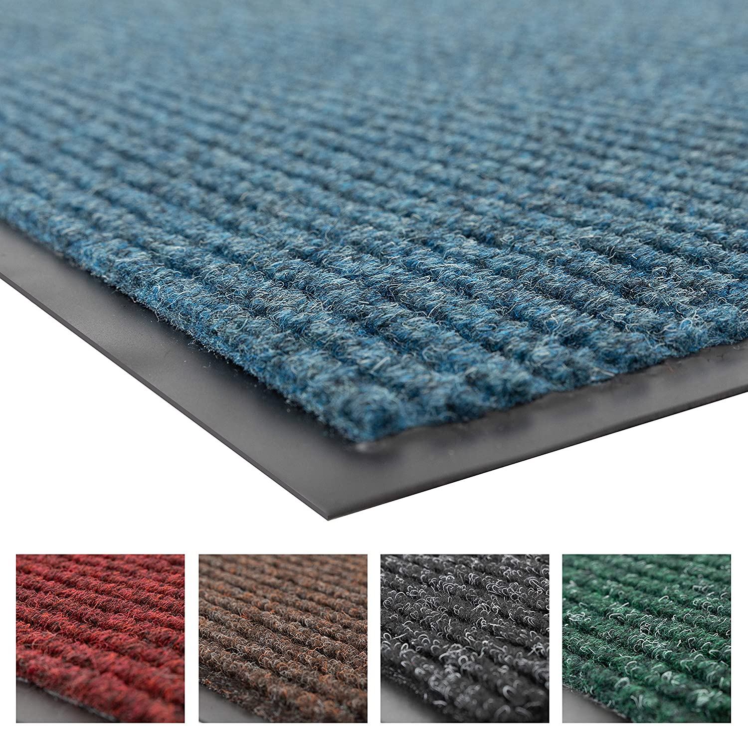 Notrax 109 Brush Step Entrance Mat, for Home or Office, 3' X 4' Slate Blue