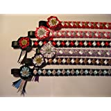IV Horse Velvet and Satin Browbands with Mini Rosettes sizes small pony to extra full