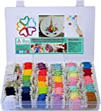 Embroidery Floss Friendship Bracelet String Kit - 276pcs Embroidery Thread and Accessories - Colors are Labeled with Std Embroidery Codes - Perfect Thread for Cross Stitch, Hand Embroidery, String Art