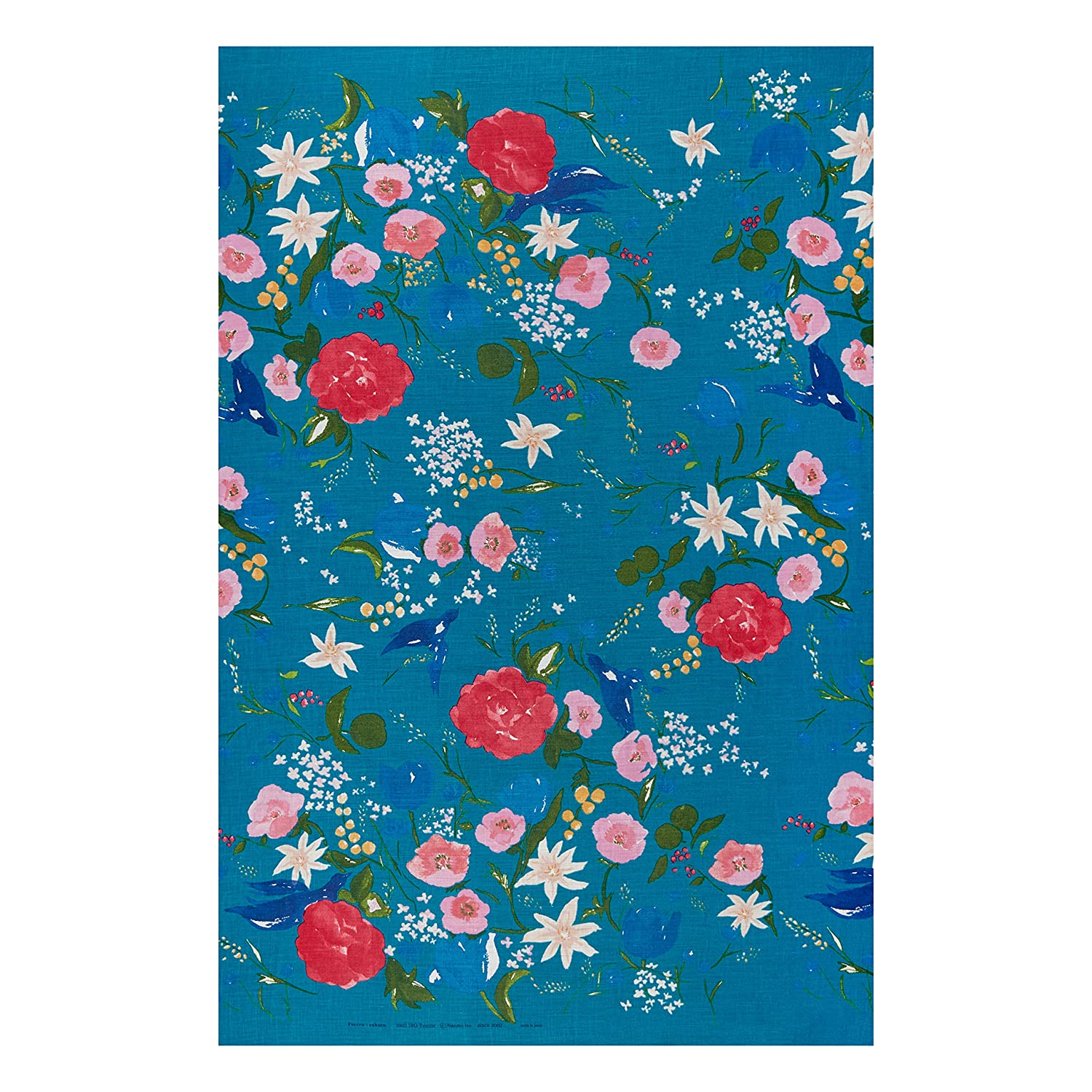 Amazon com: Kokka Nani Iro Linen Sheeting Floral Fabric