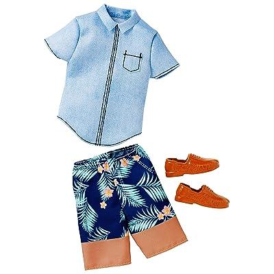Barbie Ken Fashion Denim Shirt & Shorts: Toys & Games