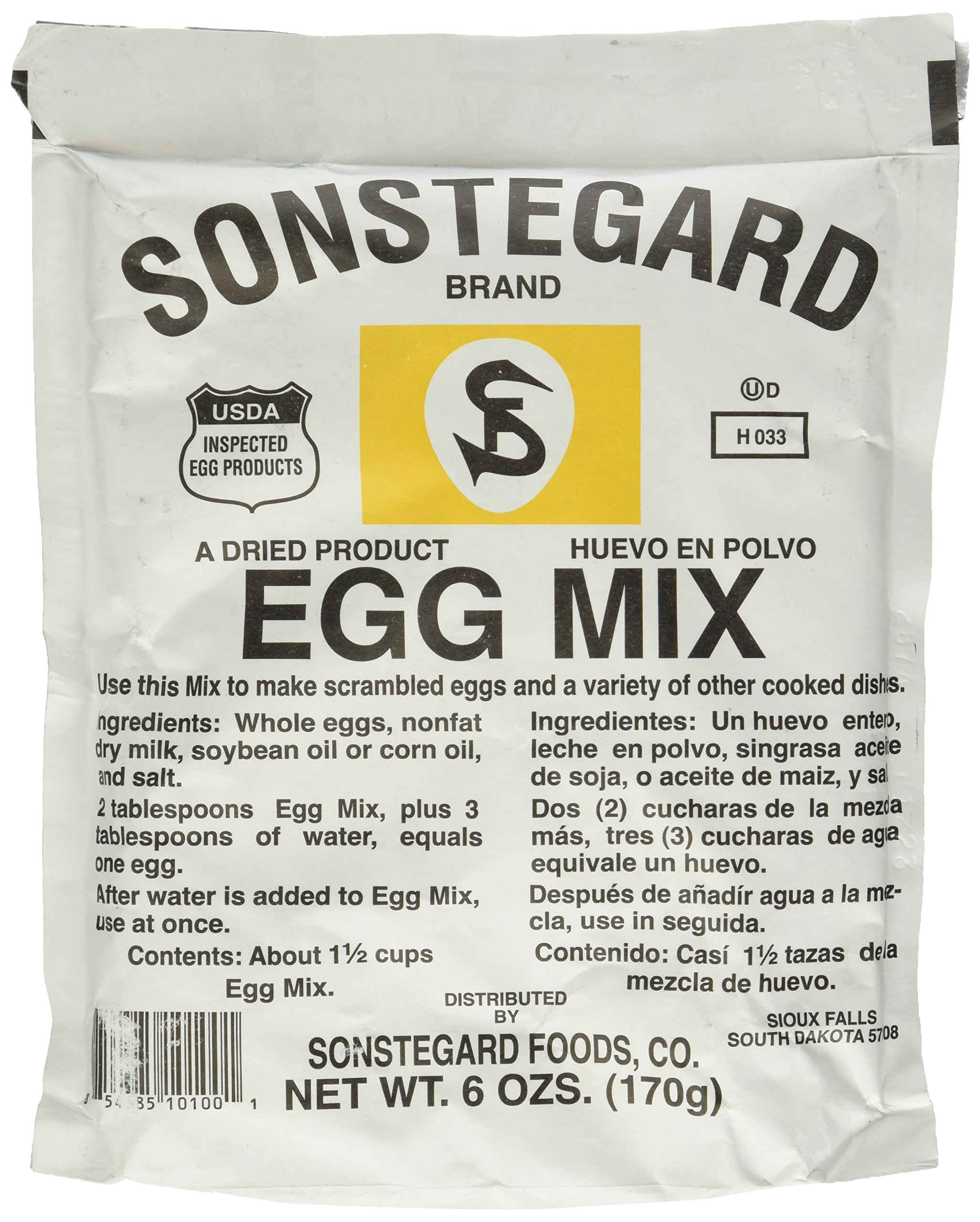 Powdered Eggs Dried Egg Mix for Scrambled Eggs, Baking, Camping 6 oz by Sonstegard by Sonstegard (Image #1)