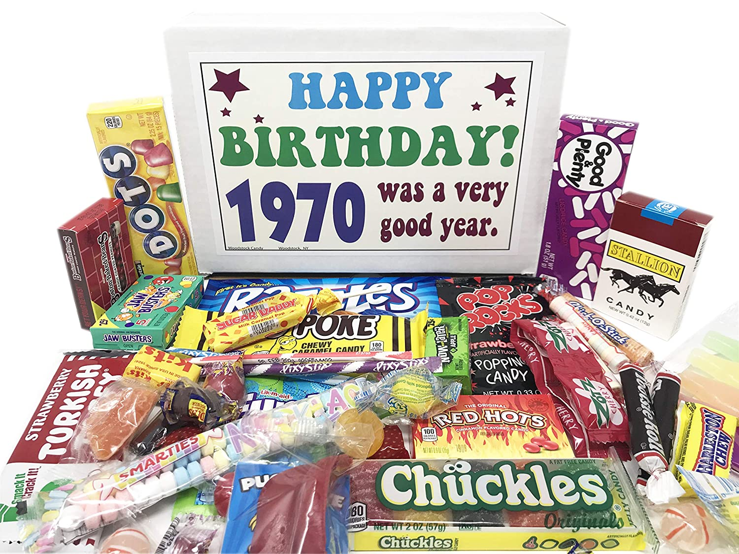 Woodstock Candy ~ 1970 50th Birthday Gifts for Women and Men Nostalgic Retro Candy Gift Mix from Childhood Born 1970 Jr : Grocery & Gourmet Food