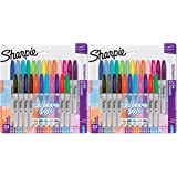Sharpie Electro Pop Permanent Markers, Fine Point, Assorted Colors, 24 Count Pack of 2