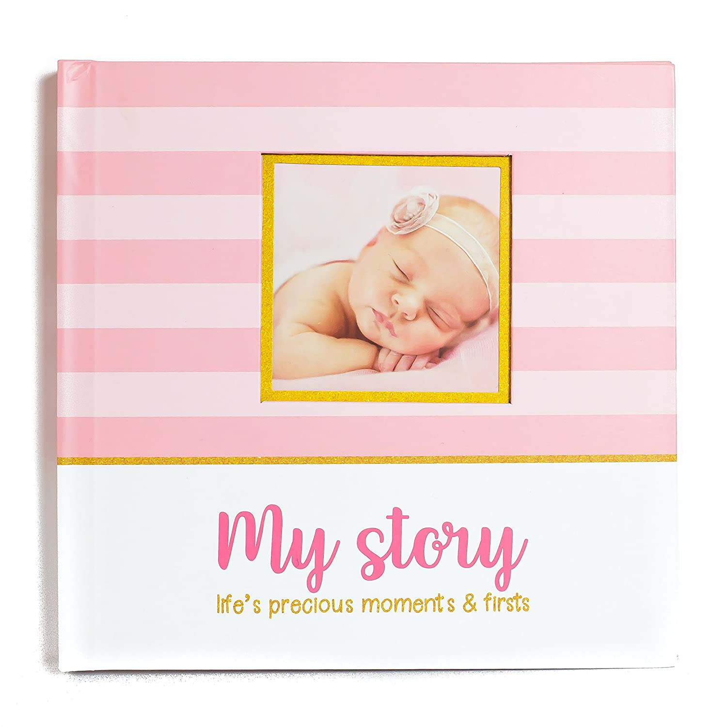 First Year Baby Memory Book Baby Journal 3 Color Styles Available . Perfect for Boys or Girls Baby Shower Gift. First 5 Years Scrapbook, Keepsake Photo Journal. Unisex, Pink