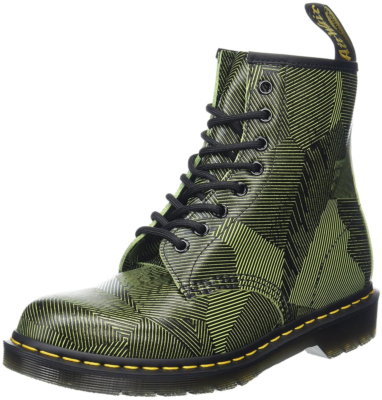 Dr. Martens 1460 Geostripe, Botas para Hombre, (Neon Yellow/Black), 41 EU: Amazon.es: Zapatos y complementos