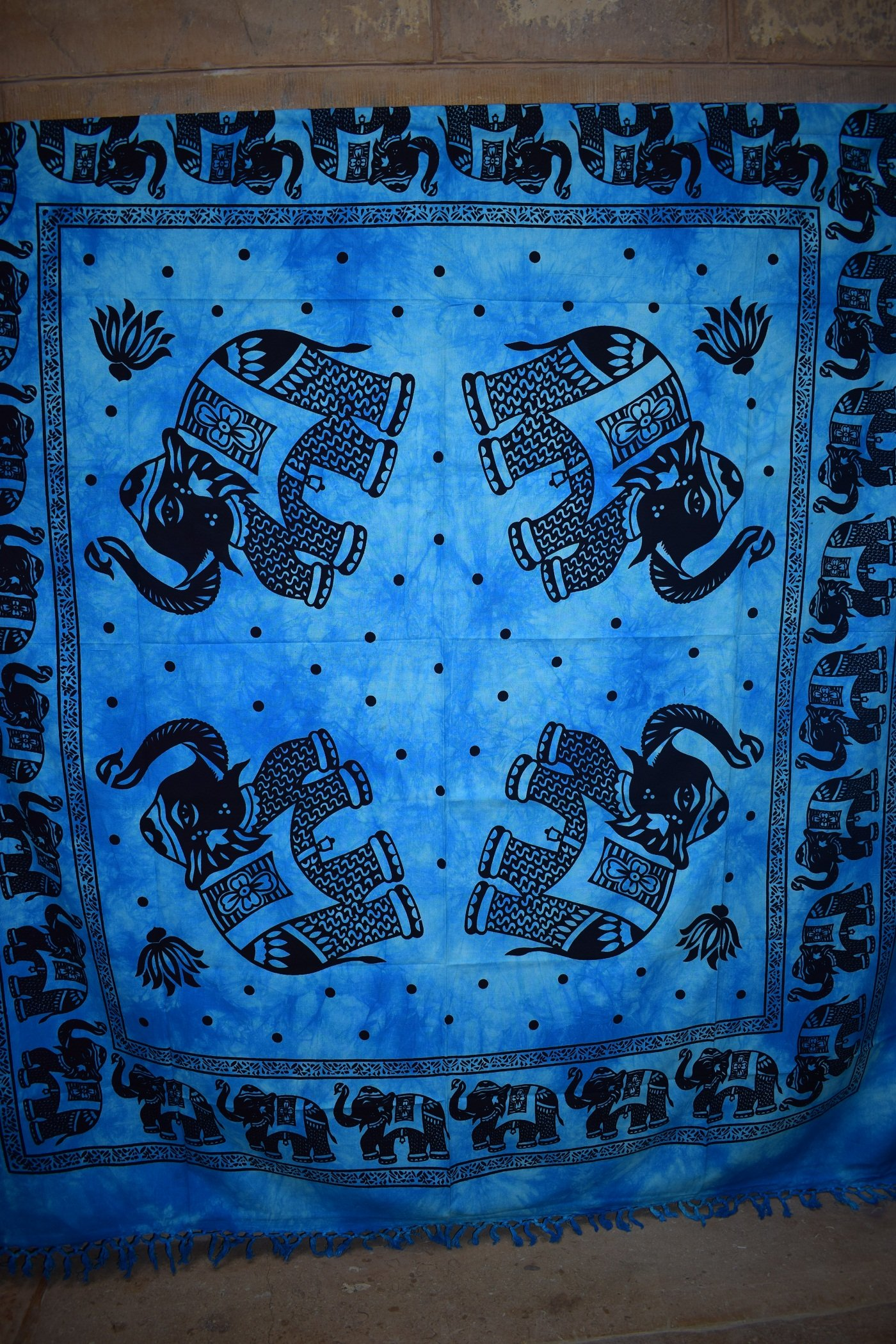 Hippie Elephant Tapestries, Wall Hanging, Mandala Tapestries tries, Bohemian Tapestries