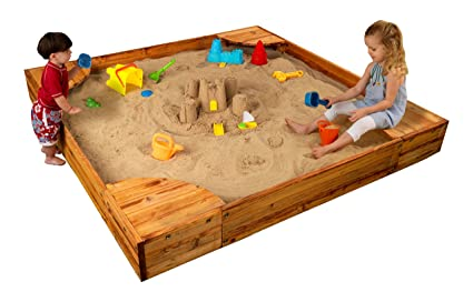 d8e951477c Amazon.com: KidKraft Backyard Sandbox - Honey: Toys & Games