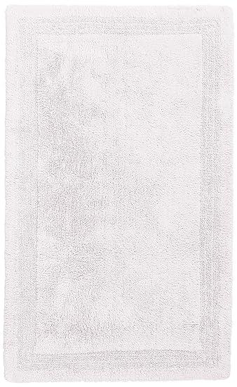 Pinzon Luxury Reversible Cotton Bath Mat   30 X 50 Inch, White