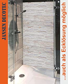 duschrckwand 90x200cm steindecor naturstein hell - Aluminium Ruckwand Dusche 2