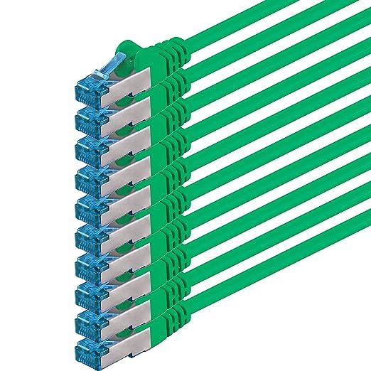 15 opinioni per 1m- verde- 10 pezzi- Rete Cavi Cat6a |