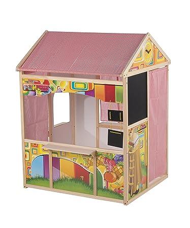Spielhaus Für Kinderzimmer | Spielhaus Fur Kinder Aus Holz Und Stoff Z B Kaufmannsladen Kiosk