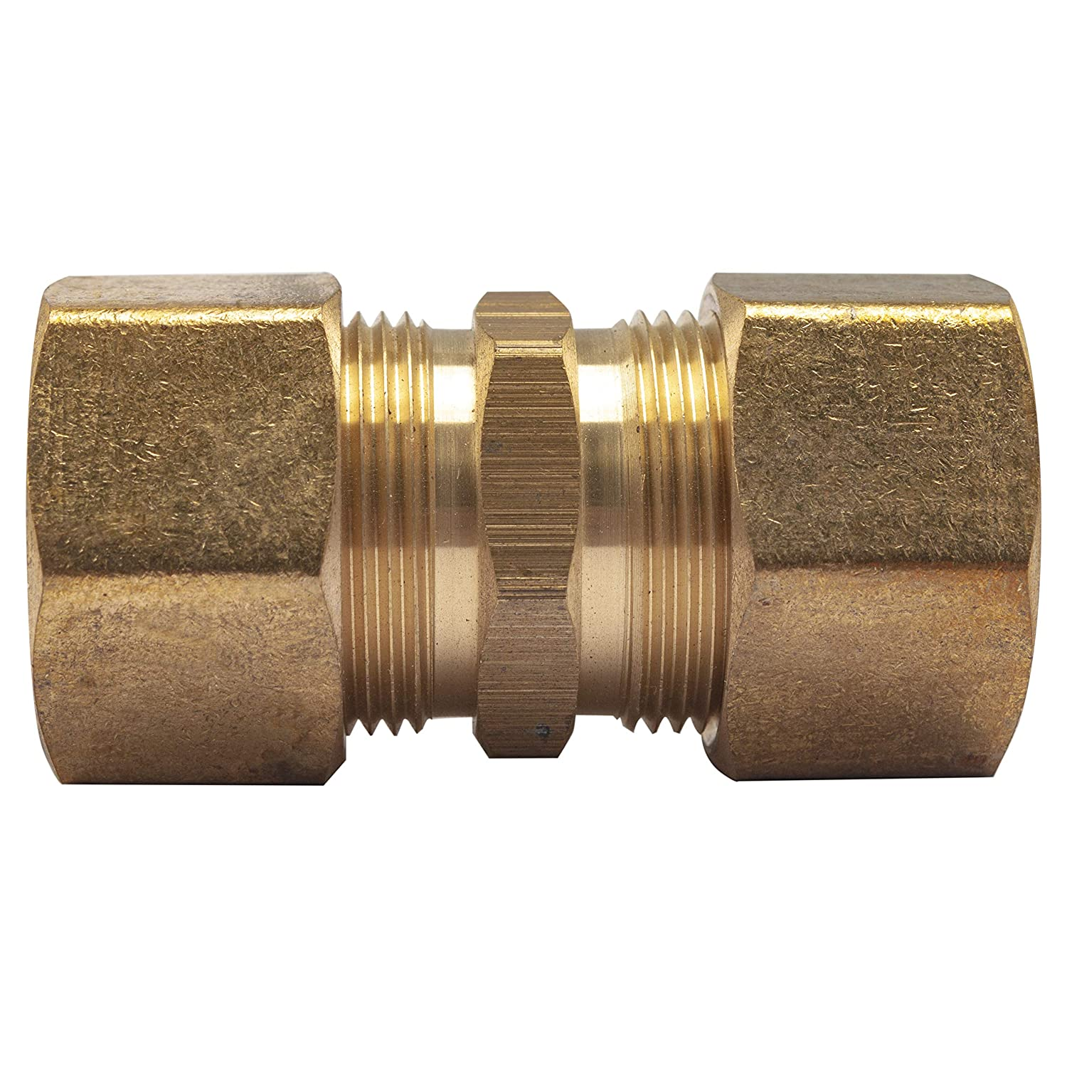 LTWFITTING 3/4-Inch OD Compression Union,Brass Compression Fitting(Pack of 3)