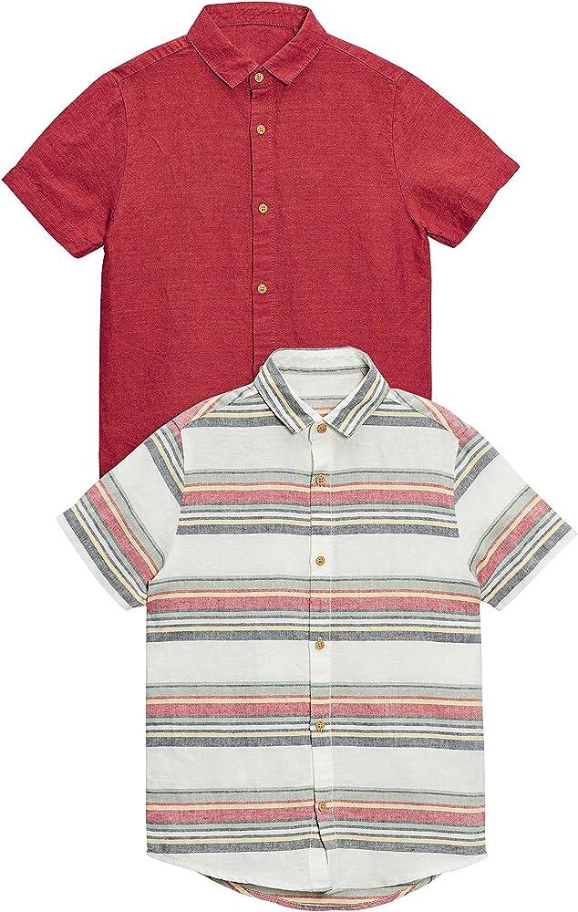 next Niños Pack De Dos Camisas De Mezcla De Lino (3-16 Años) Herrumbre 11 años: Amazon.es: Ropa y accesorios