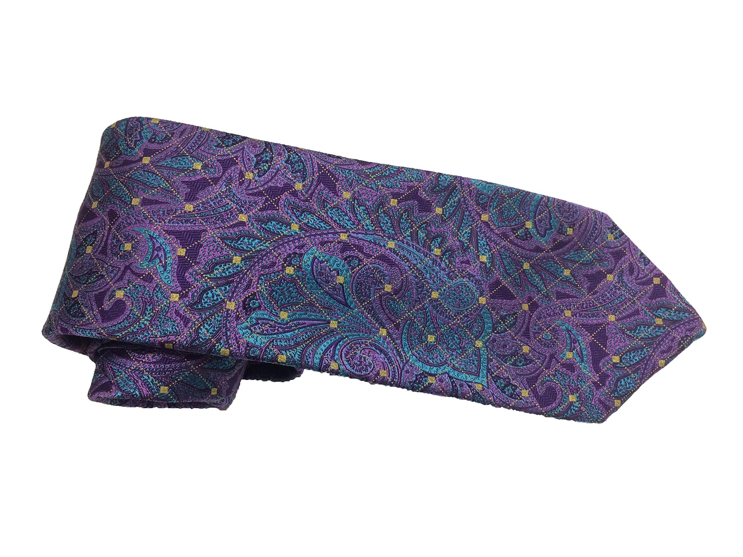 Robert Talbott Purple with Paisley Design Regent Seven Fold Tie
