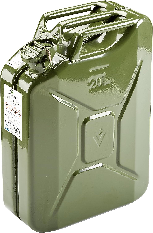Hp Autozubehör 10120 20l Stahlblech Kraftstoff Kanister Grün Auto