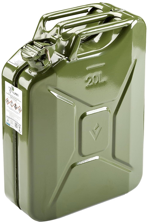 HP Autozubehör Benzinkanister Stahlbl. 20l TÜV+GS+UN-gepr. Oliv Valpro LTD. 10120