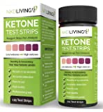 *New* Ketone Test Strips by NKD Living (125 Test Strips) *Accurately Detect and Measure Ketones* *Made for Ketogenic, Low Carbohydrate Diets and Diabetics* (100 Strips + 25 Free)