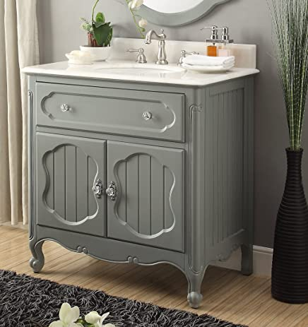 34 Benton Collection Victorian Cottage Style Knoxville Bathroom Sink Vanity Model GD 1533CK