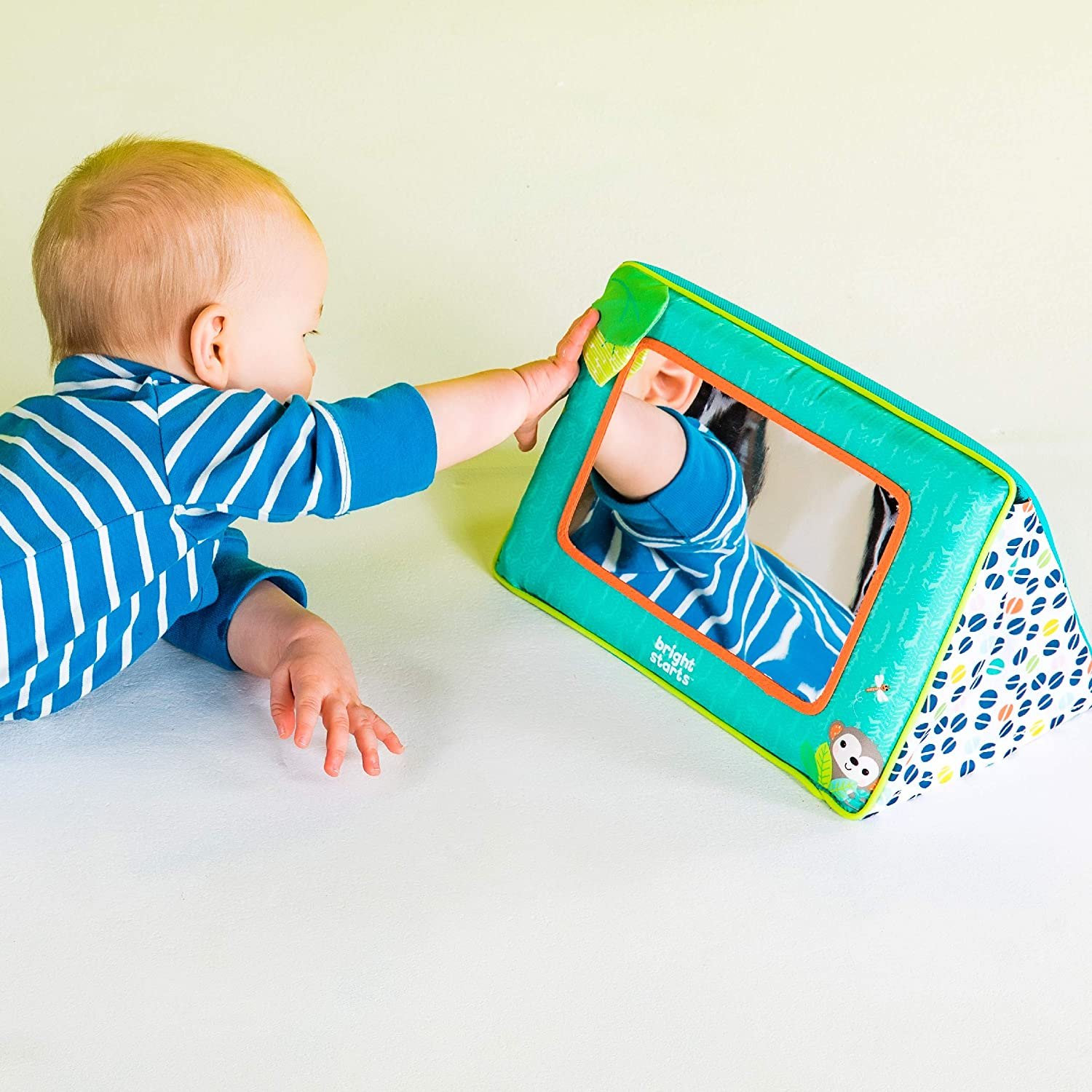 Baby Floor Mirror Toy Sensory Toy for Baby Toddler Play /& Self-Discovery