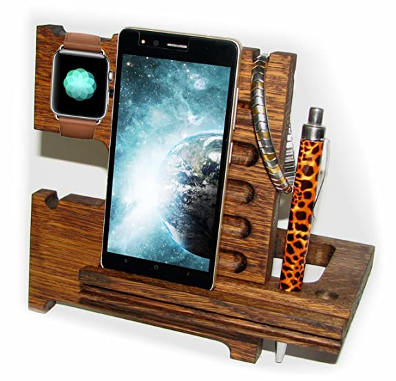 Docking Station Wood Oak Apple Watch Stand Wooden Christmas Gifts For Men Charging Organizer IWatch