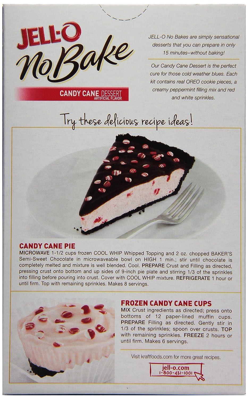 jell o no bake candy cane dessert 10 4 ounce amazon com grocery