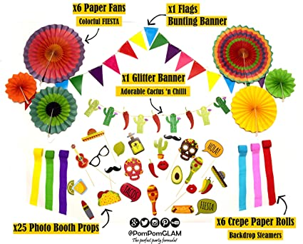 Amazon Com The Complete Fiesta Cactus Taco Bout A Party Decorations