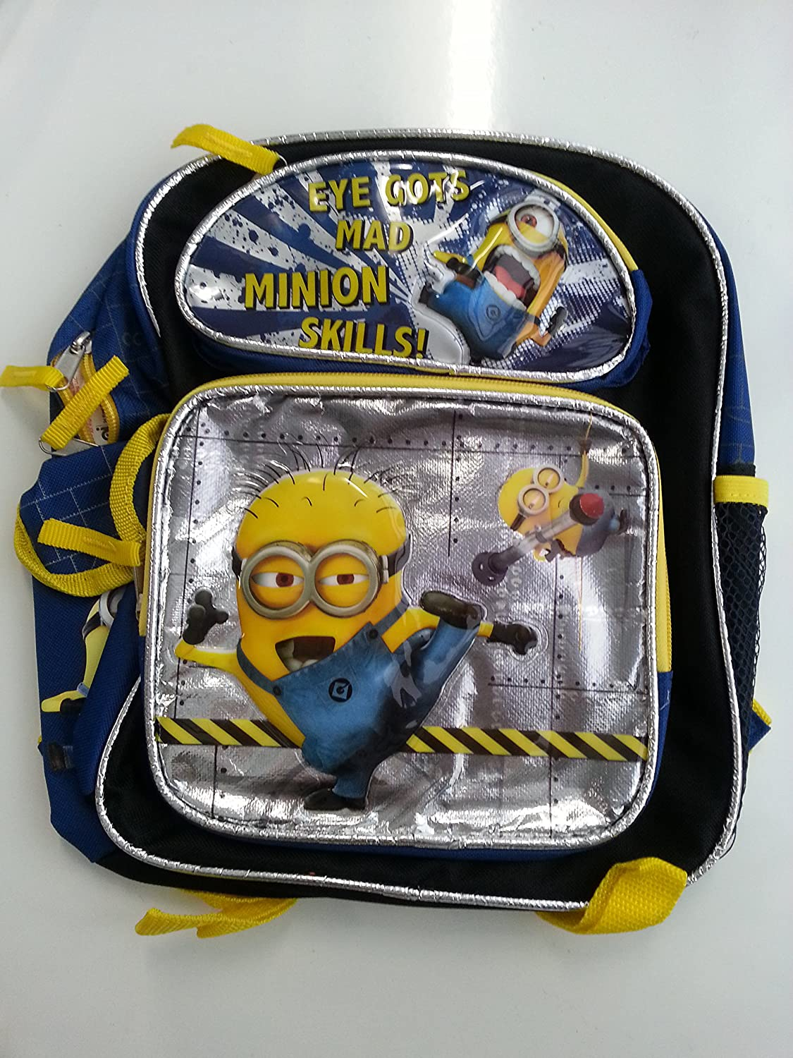 Small Backpack - Despicable Me - Eye Gots Mad Silver 12