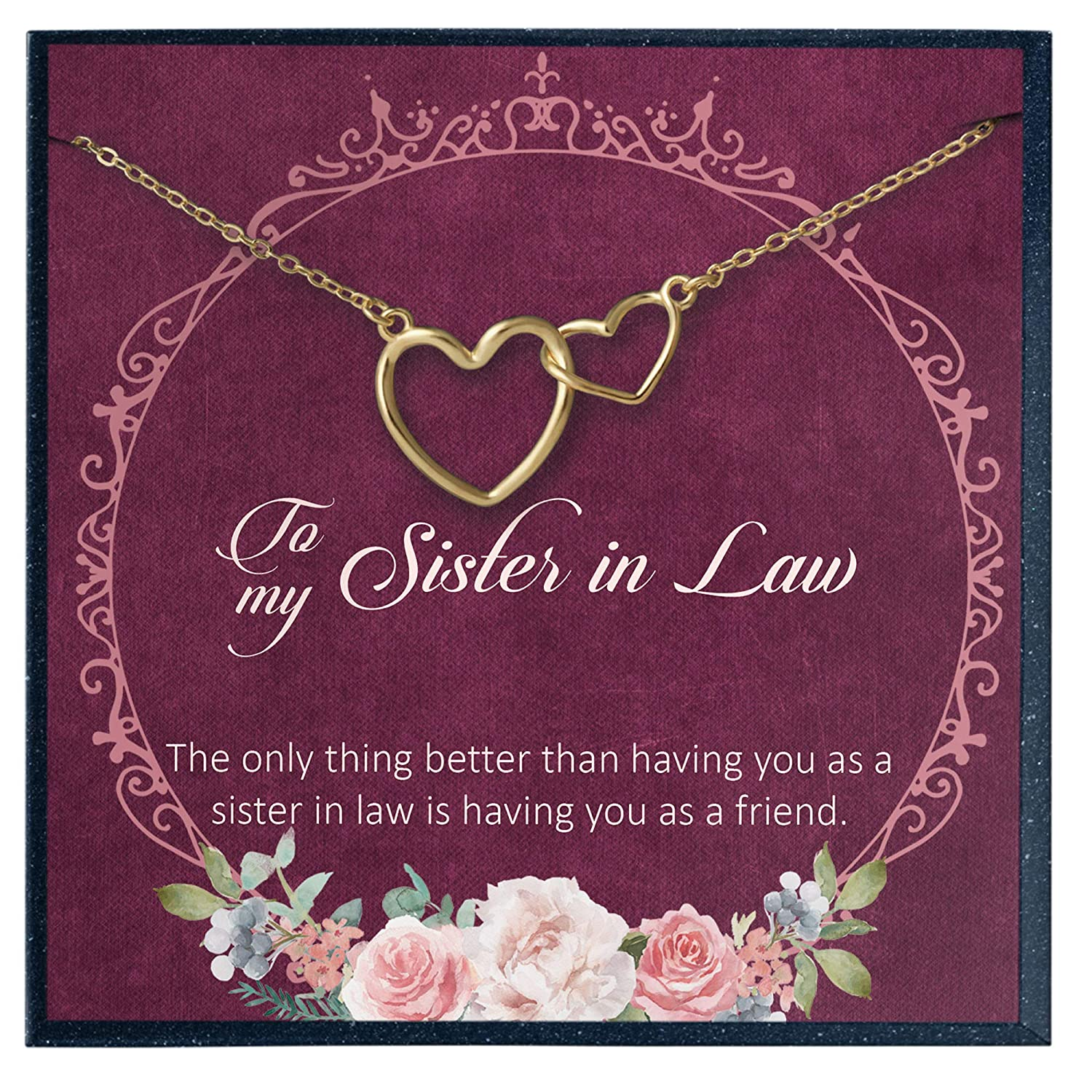 Sister in Law Necklace \u2022 Funny Gift for Sister in Law \u2022  Sister of the Groom Wedding Gift \u2022 Birthday Gift for Sister-in-law
