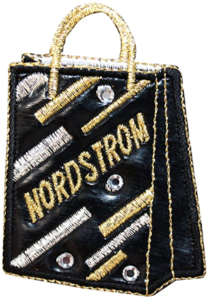 ID 8522 Nordstrom Fashion Store Shopping Bag Pleather Iron On Applique Patch