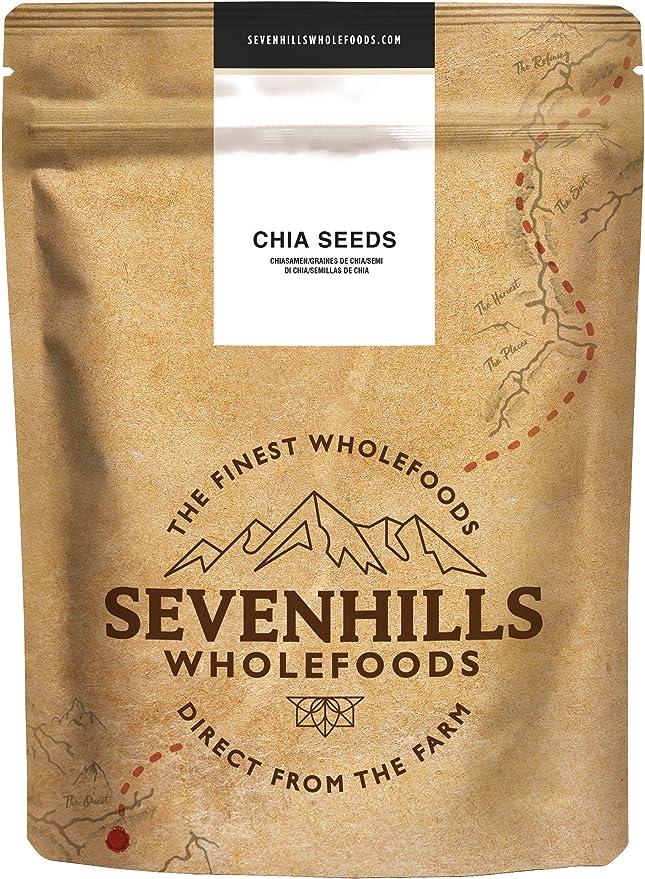 Sevenhills Wholefoods Semillas de Chia Crudo 2kg: Amazon.es: Salud ...